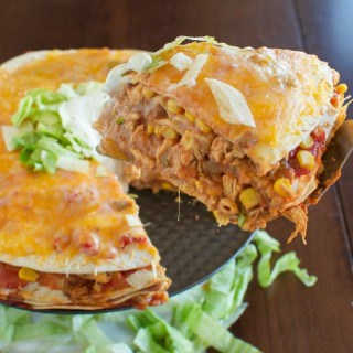 Cheesy Chicken Taco Stack