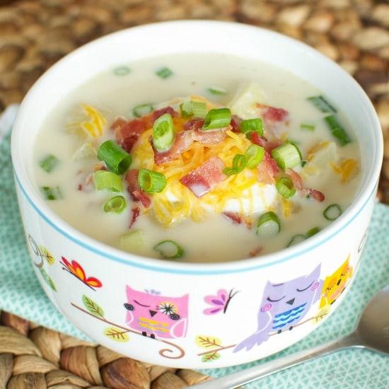 Loaded Baked Potato Soup FG