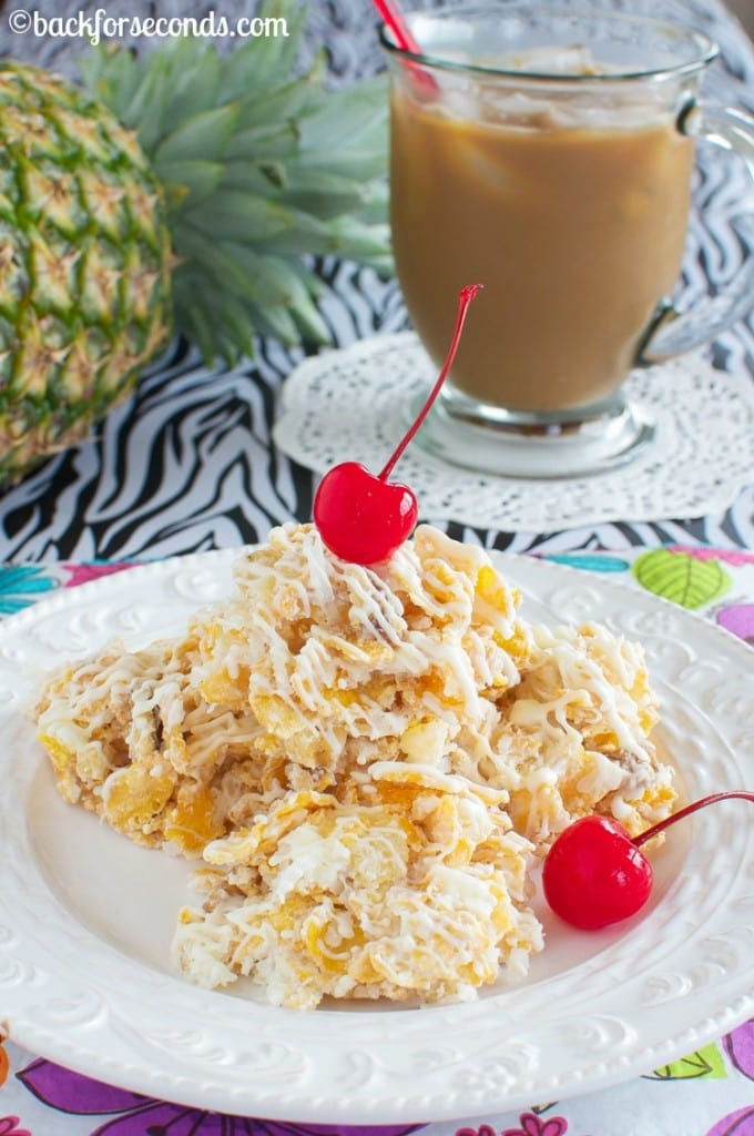 Pina Colada No Bake Cookies and Vanila Iced Café #MyIcedCafe