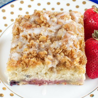 Triple Berry Coffee Cake with Brown Sugar Streusel FG