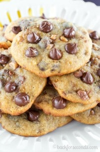 Banana Toffee Chocolate Chip Cookies