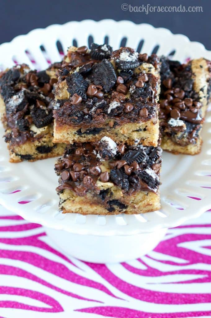 Hot Fudge Oreo Blondie Bars