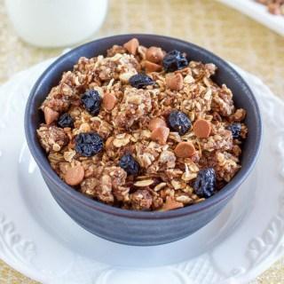 Oatmeal Raisin Cookie Granola Made in the Crock Pot