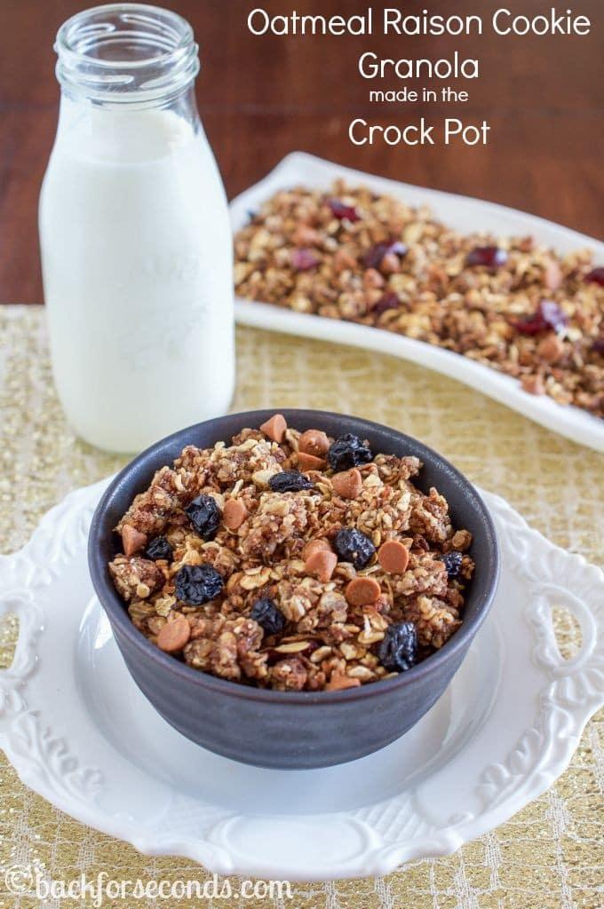 Crock Pot Oatmeal Raisin Cookie Granola Recipe