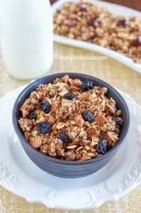 Oatmeal Raisin Cookie Granola Made in the Crock Pot