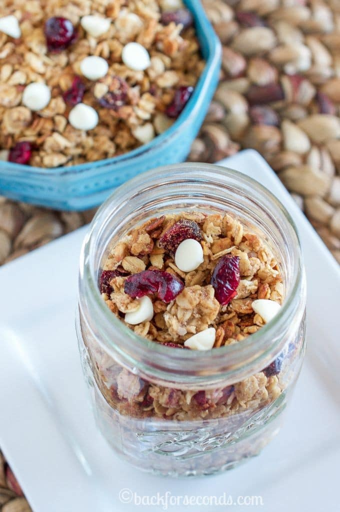 White Chocolate Cranberry Slow Cooker Granola - Easy and Delicious!