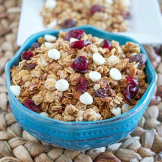 Slow Cooker White Chocolate Cranberry Granola