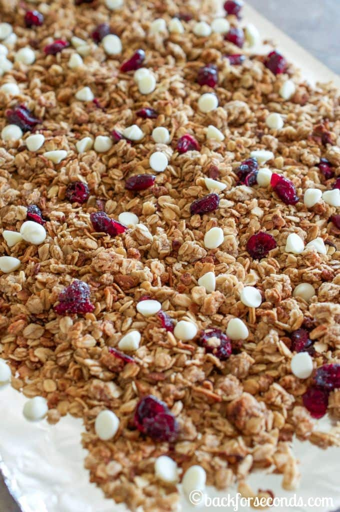 White Chocolate Cranberry Slow Cooker Granola Recipe