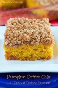 Pumpkin Coffee Cake with Peanut Butter Streusel