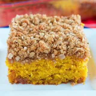Pumpkin Coffee Cake with Peanut Butter Streusel