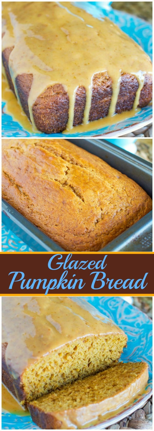 Glazed Pumpkin Bread - A MUST MAKE for fall!!