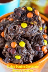Thick, Soft, Chewy Chocolate Reese's Cookies