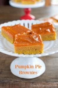 Fudgy Pumpkin Pie Brownies