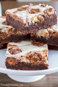Milky Way Cheesecake Brownies