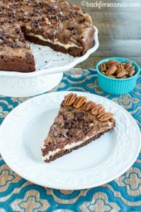 Chocolate Pecan Pie Brownie Cheesecake