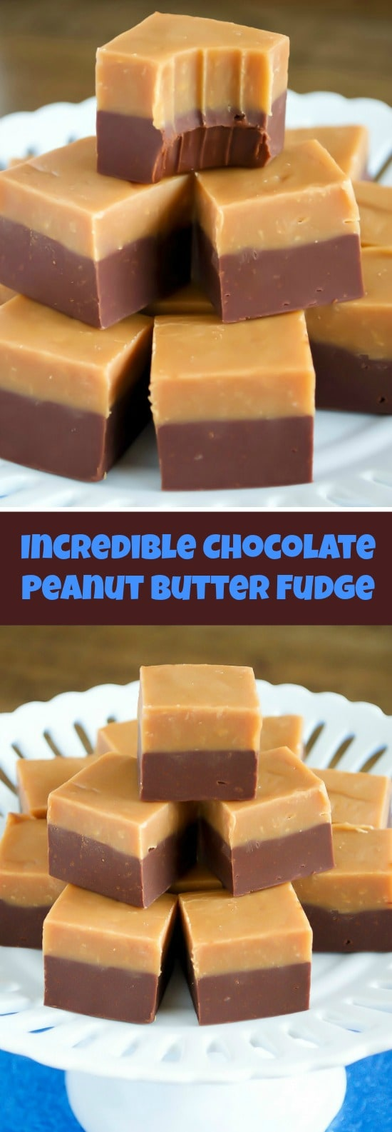 Chocolate Peanut Butter Double Decker Fudge - Back for Seconds