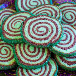 Mint Chocolate Sugar Cookie Pinwheels