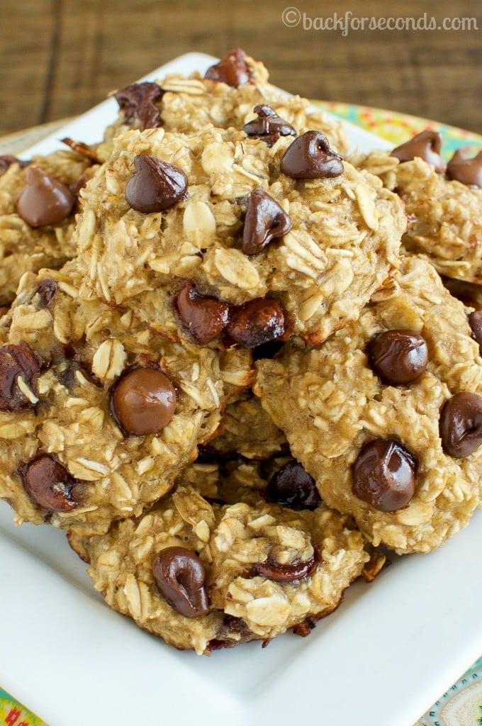 BEST Healthy Chocolate Chip Breakfast Cookies