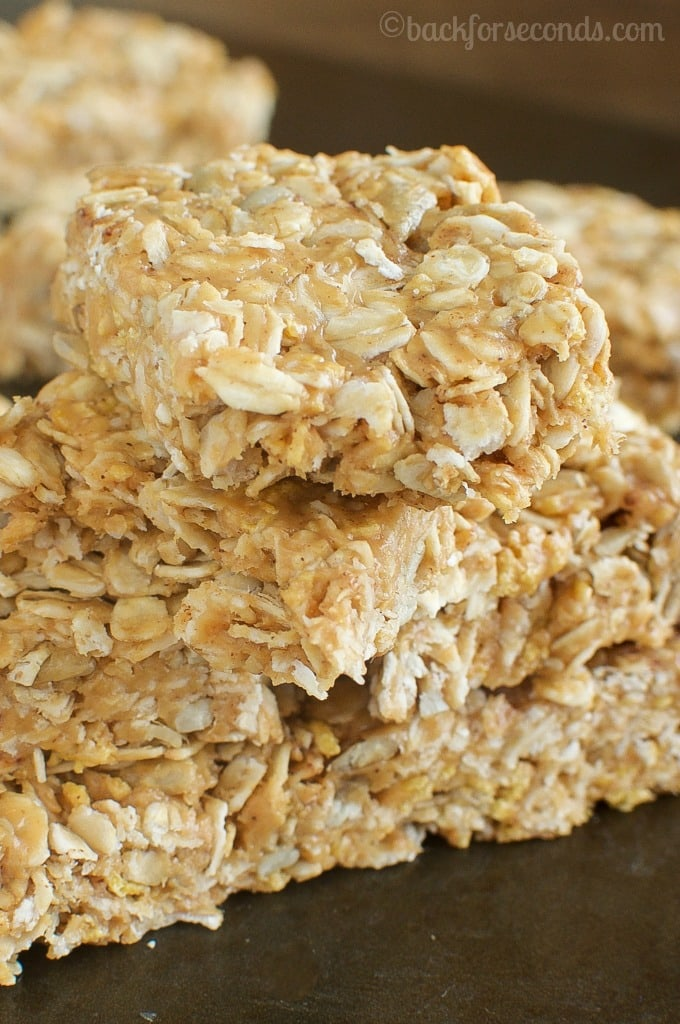 Chewy Peanut Butter and Honey Granola Bars - Back for Seconds