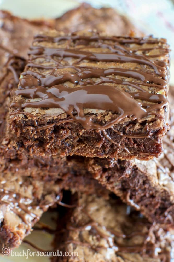 Chewy Chocolate Nutella Cookie Bars - Easy and AMAZING!!!