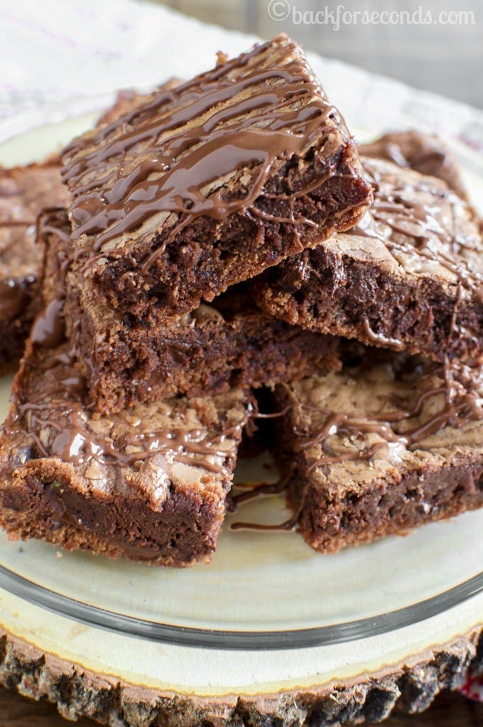 Chewy Chocolate Nutella Cookie Bars - So easy, and crazy delicious!
