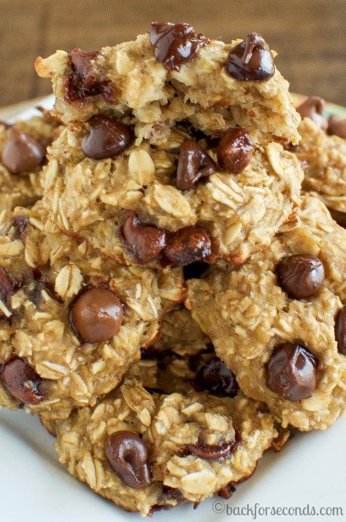 Healthy Chocolate Chip Banana Breakfast Cookies