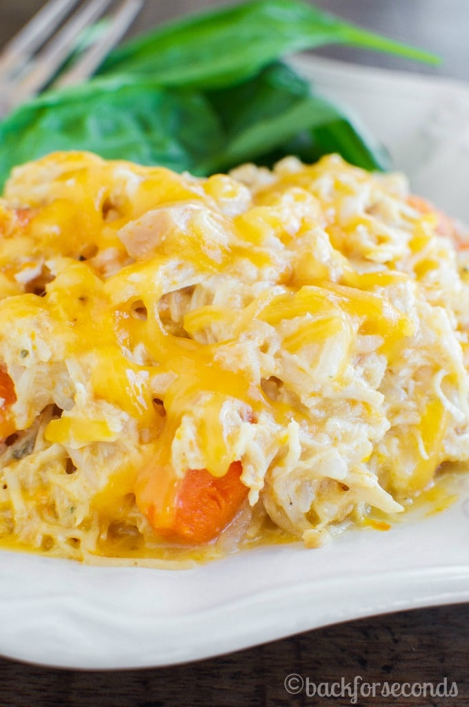 Easy Cheesy Crockpot Chicken - SO GOOD!