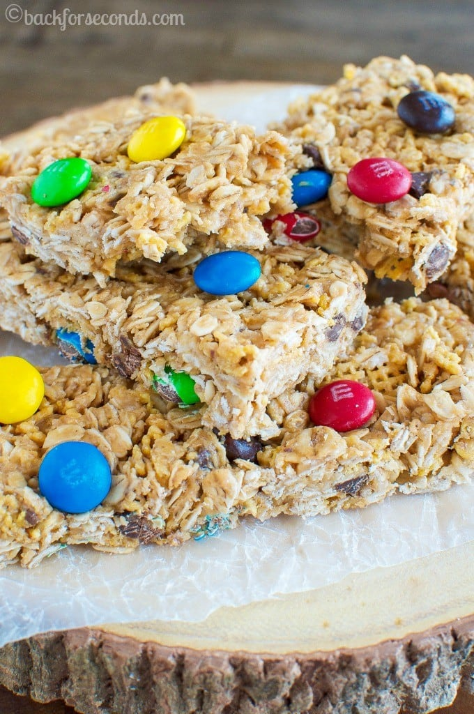 No Bake M&M's Granola Bars #Promotion