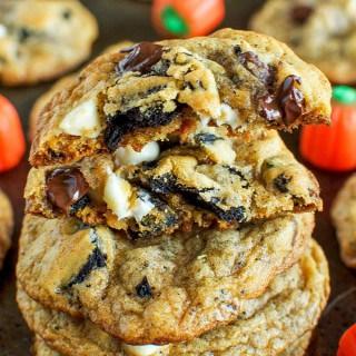 Pumpkin Spice Oreo Chocolate Chip Cookies