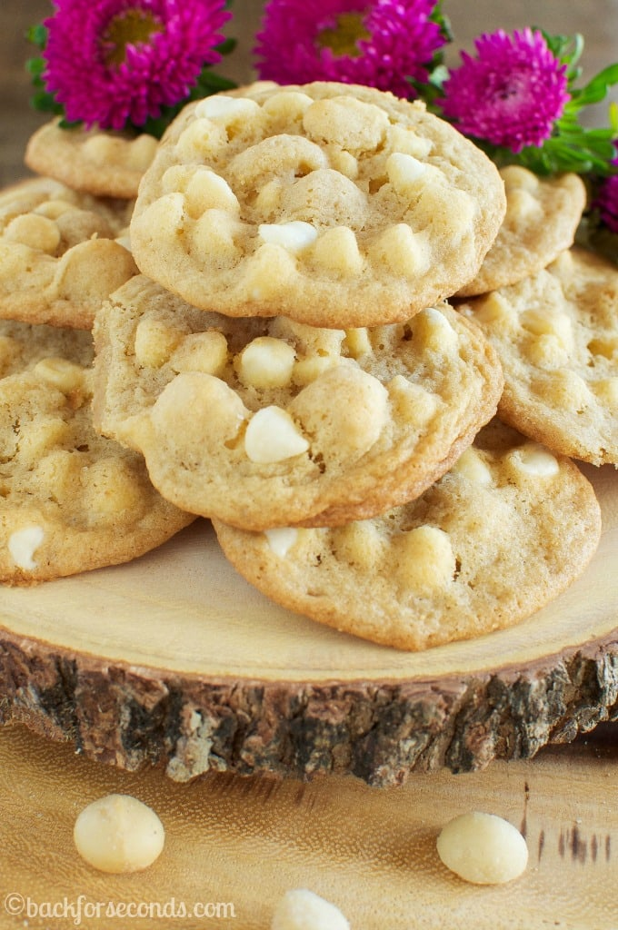The BEST Chewy, Buttery, White Chocolate Macadamia Nut Cookies