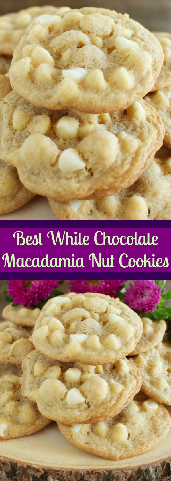 The BEST White Chocolate Macadamia Nut Cookies Ever!!! Chewy and buttery and totally addicting! -2