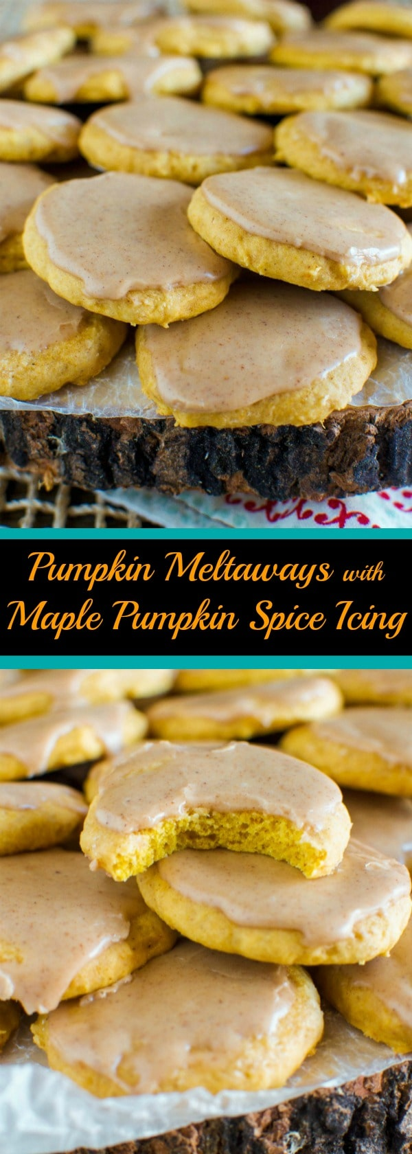 Pumpkin Meltaways with Maple Pumpkin Spice Icing