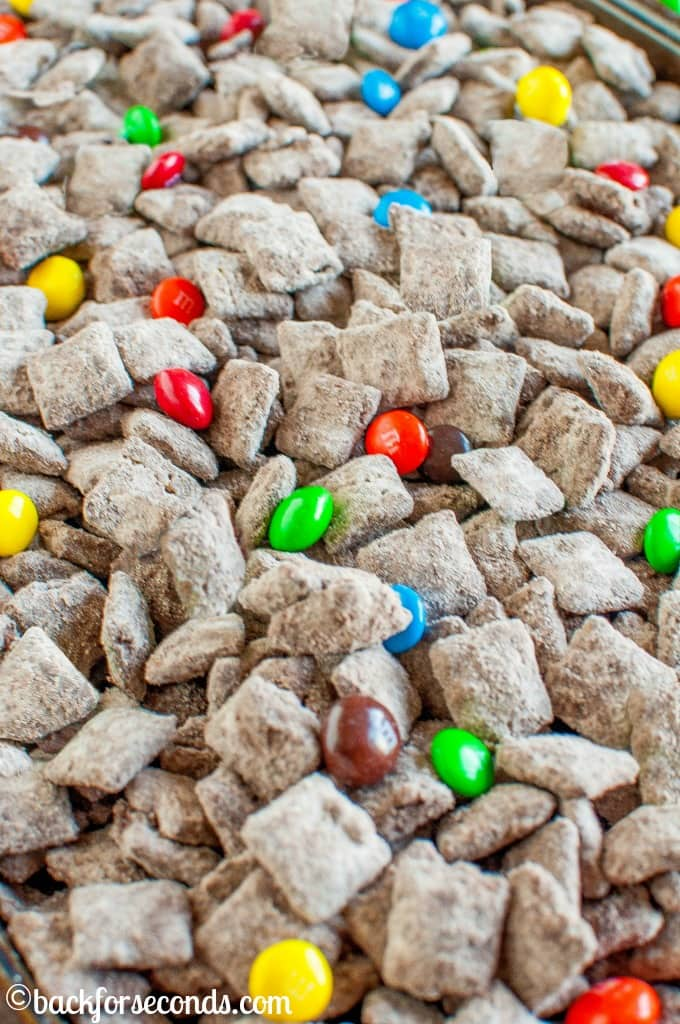 Peanut Butter Brownie M&M'S® Muddy Buddies are the perfect party snack to munch on during the big game or your favorite movie. Quick, easy, and irresistible!