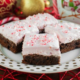 Candy Cane Fluff Brownies