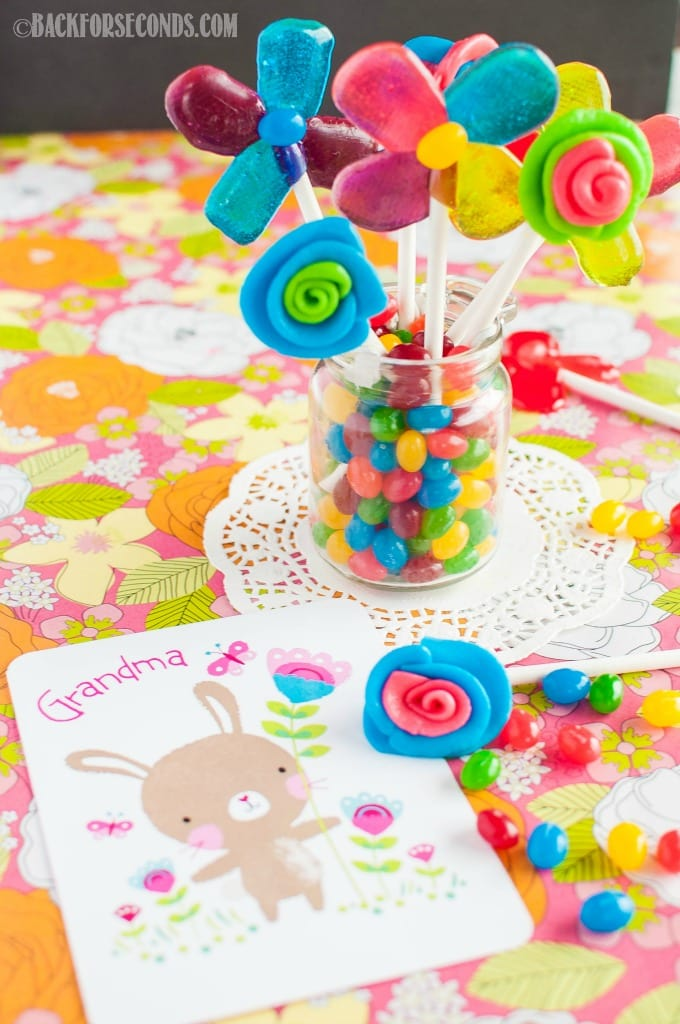 Easy homemade Lollipops and Edible Candy Flowers
