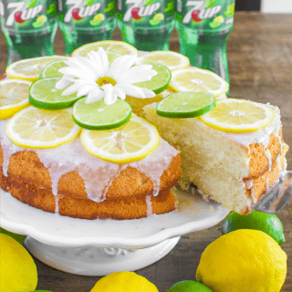 7 UP Cake from Scratch with Lemon Lime Glaze