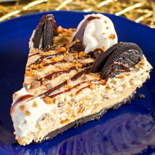 No Bake Butterfinger Cheesecake Pie