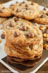 Salted Chocolate Chip Walnut Cookies