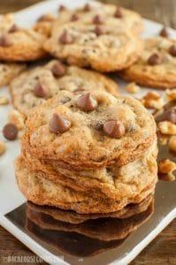Salted Chocolate Chip Walnut Cookies
