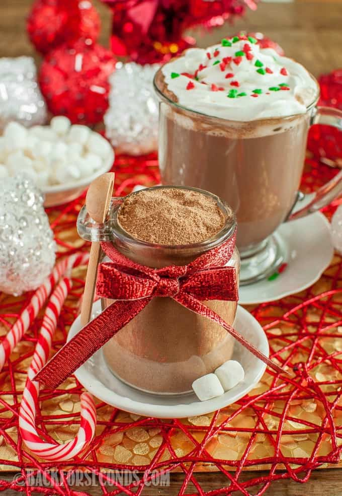 I don't want to sound dramatic, but this is the World's Best Homemade Hot Cocoa Mix!! It makes rich, creamy, perfect hot chocolate. Great gift idea, too!