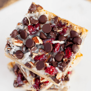 Dark Chocolate Cranberry Magic Bars