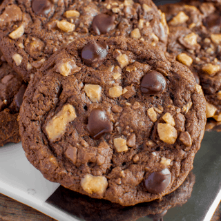 Chewy Chocolate Toffee Cookies