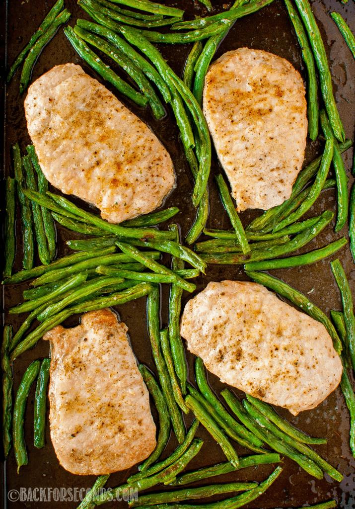 Sage Butter Pork Chop Sheet Pan Dinner