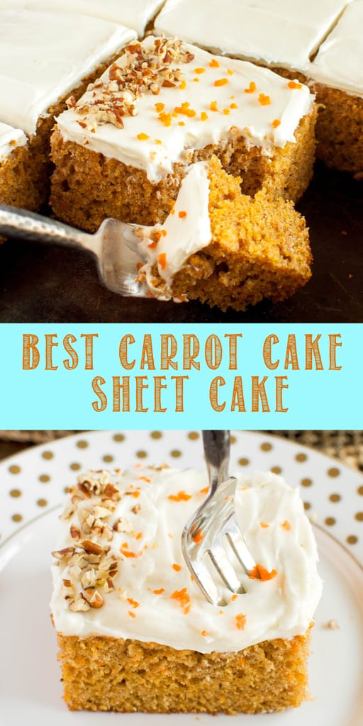 carrot cake with cream cheese frosting collage
