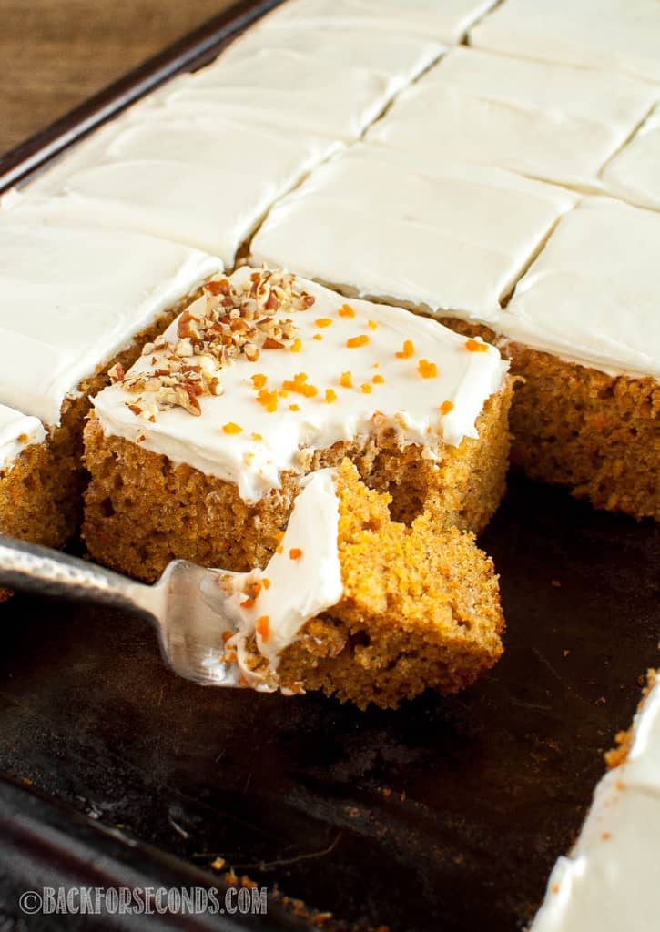 Best Carrot Cake Sheet Cake Recipe Back For Seconds