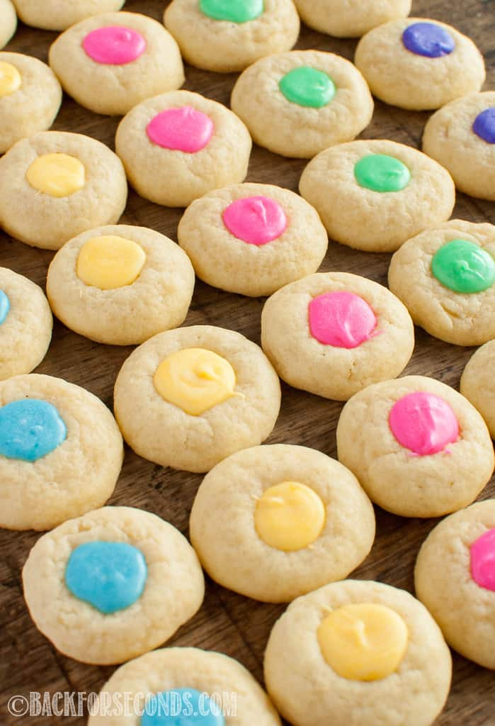 Colorful Easter Thumbprint Cookies