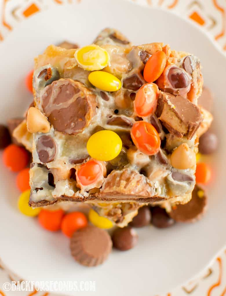Reese's Magic Blondie Bars top view