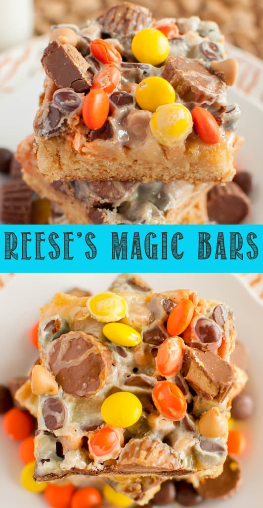 Reese's Magic Blondie Bars collage photo