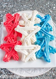 Easy Red, White, and Blue Meringue Cookies