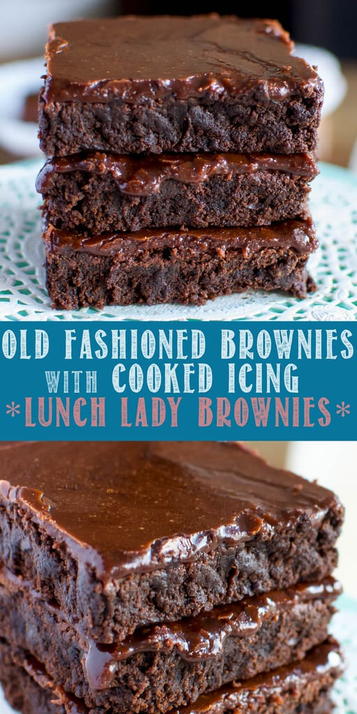 Lunch Lady Brownies collage photo